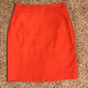 J. Crew Size 2 Soft Orange Pencil Skirt